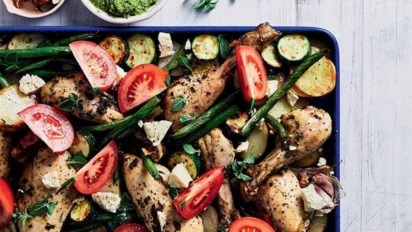 Greek Oregano Chicken Traybake