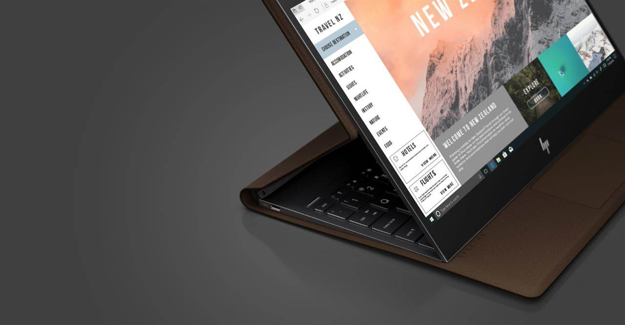 HP unveils its first leather laptop, the Spectre Folio