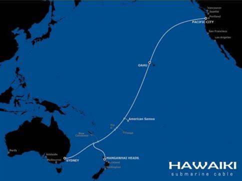 Hawaiki subsea cable comes online