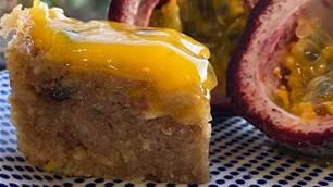 RECIPE: Pretend passionfruit slice