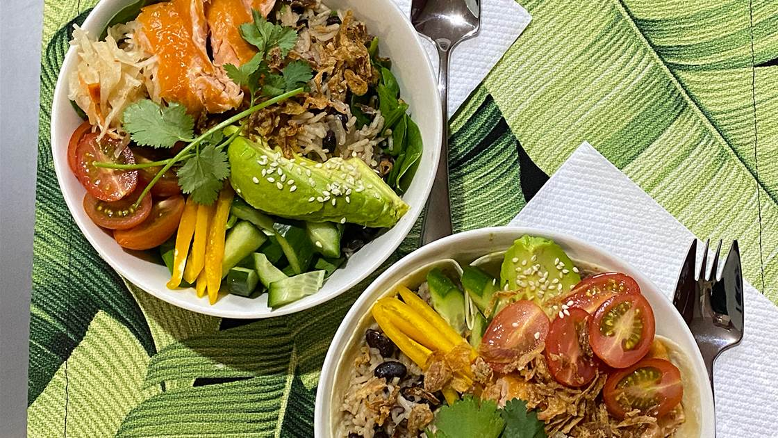 RECIPE: Salmon Burrito Bowl