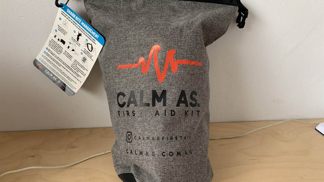 The 'Calm As', Shark Bite, First Aid Kit