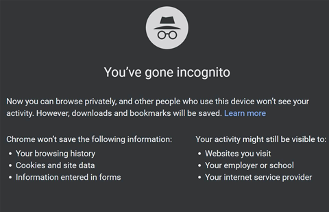 Chrome's Incognito Mode has loophole