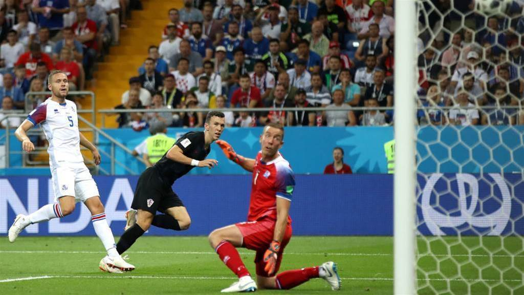 Croatia salvage 2-1 victory over Iceland to top Group D