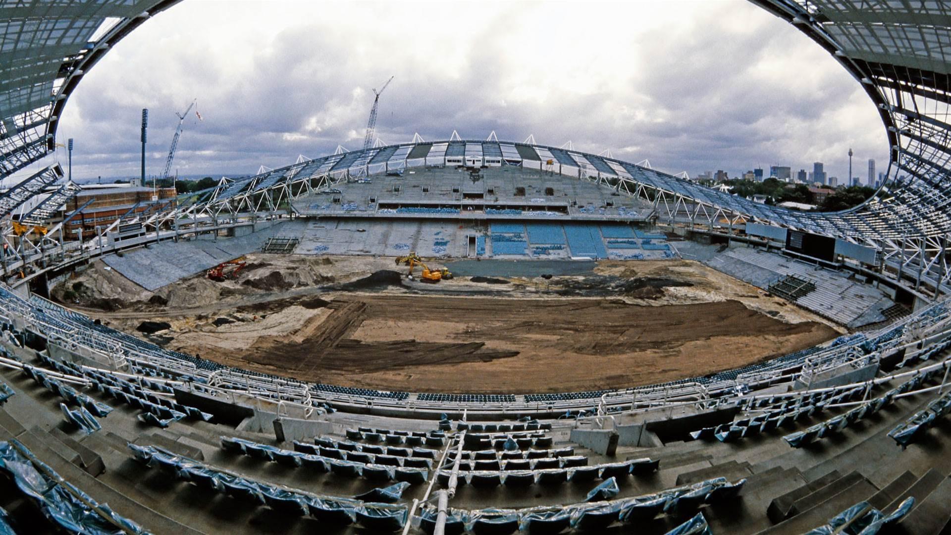 Sydney Football Stadium takes shape in 1987