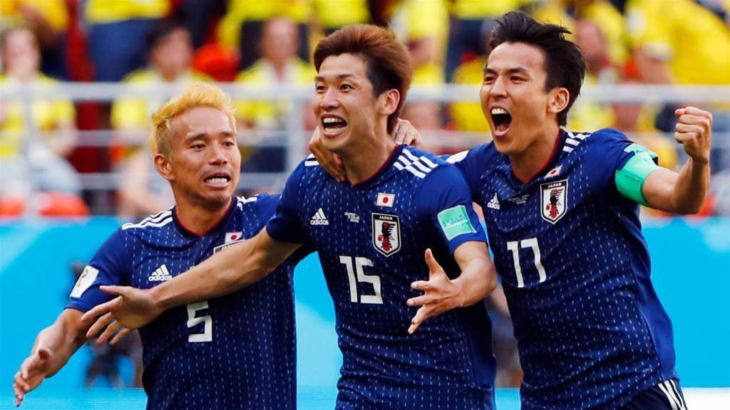 Japan beat 10-man Colombia 2-1 in Saransk