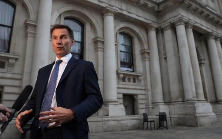 Britain's Hunt promises 'doctrine of deterrence' against cyberattacks on democracy
