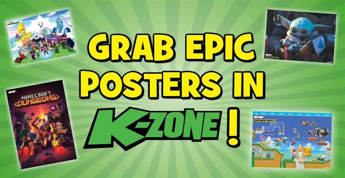 Get 5 Posters In K-Zone's May Issue: Animal Crossing, Minecraft, Star Wars, Mario and Steven Universe!