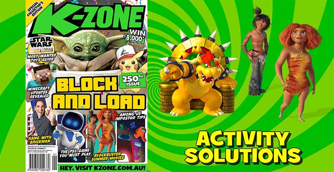 JANUARY 2021 ISSUE ACTIVITY SOLUTIONS