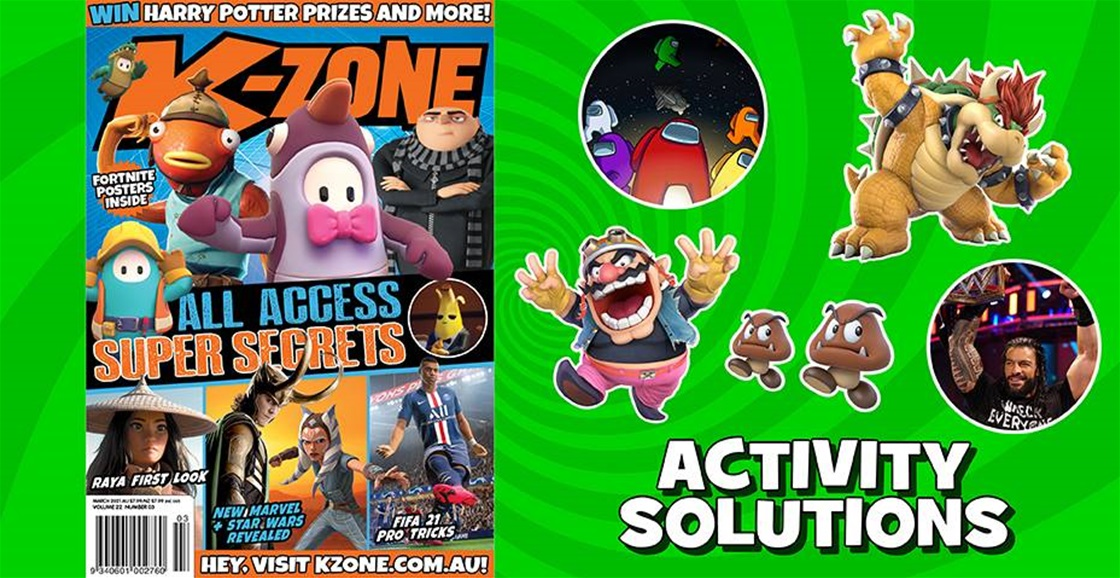 MARCH 2021 ISSUE ACTIVITY SOLUTIONS