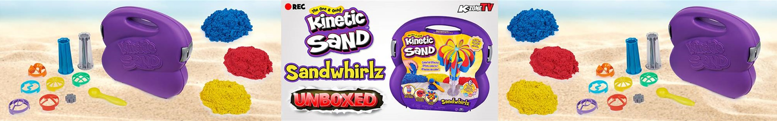 Kinetic Sand Sandwhirlz Unboxing