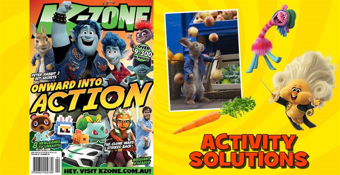 APRIL 2020 ISSUE ACTIVITY SOLUTIONS