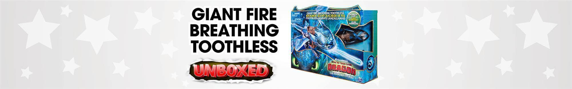 Giant Fire Breathing Toothless Unboxing