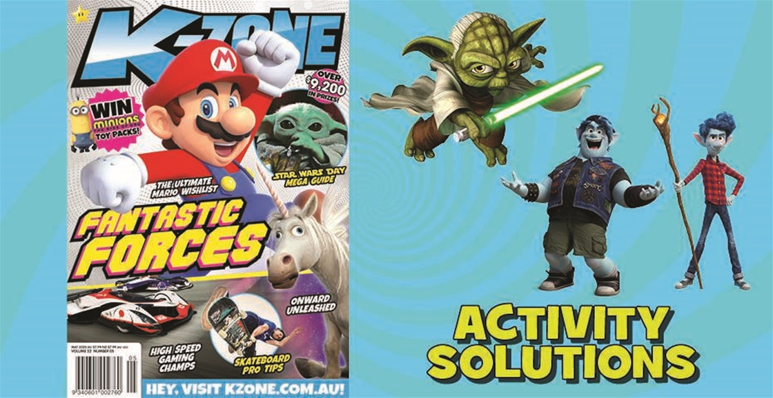 MAY 2020 ISSUE ACTIVITY SOLUTIONS
