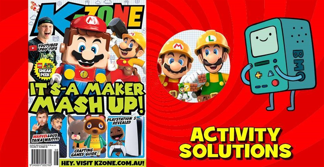 AUGUST 2020 ISSUE ACTIVITY SOLUTIONS