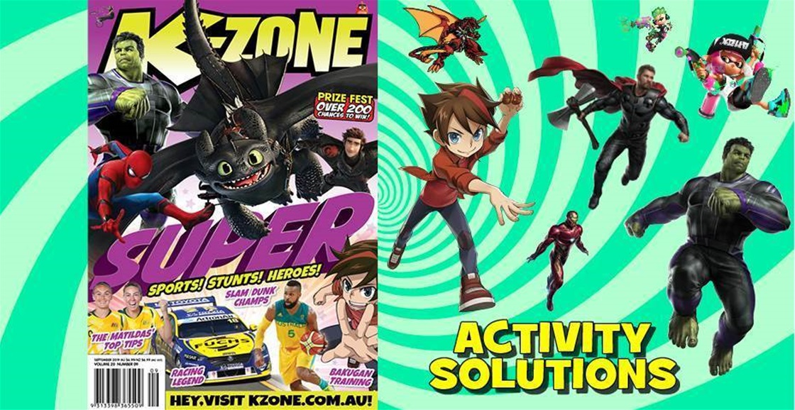 SEPTEMBER 2019 ISSUE ACTIVITY SOLUTIONS