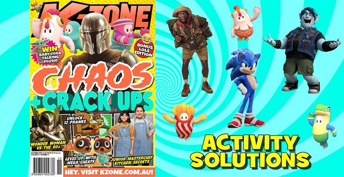 NOVEMBER 2020 ISSUE ACTIVITY SOLUTIONS