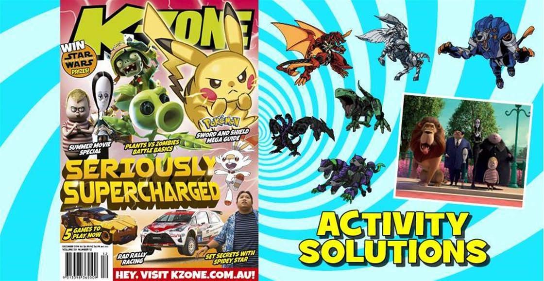 DECEMBER 2019 ISSUE ACTIVITY SOLUTIONS