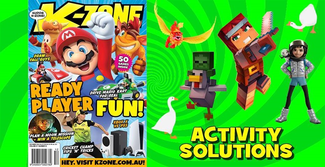 DECEMBER 2020 ISSUE ACTIVITY SOLUTIONS
