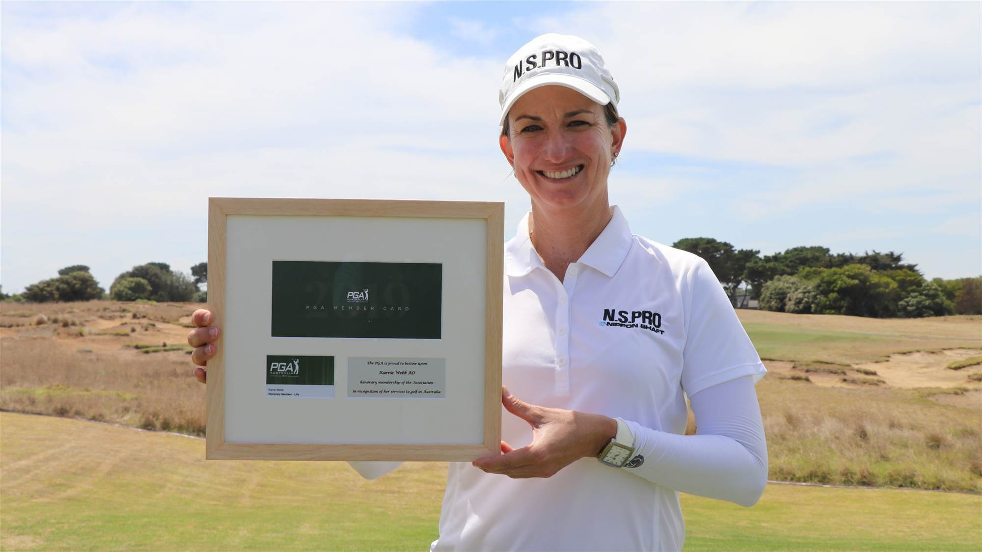 Webb honoured with PGA membership