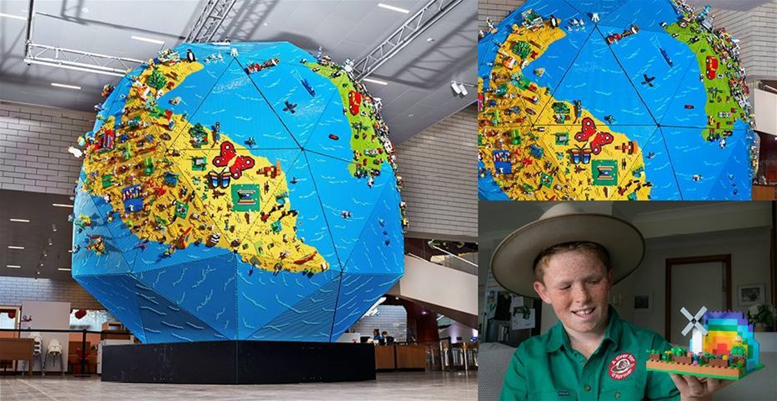 Mega LEGO 'Rebuild the World' Installation