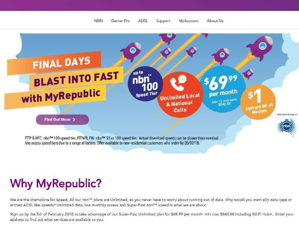 MyRepublic stung for NBN fine print