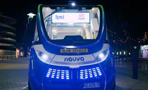 Sydney driverless shuttle merges into live traffic
