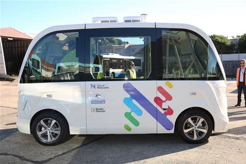 Newcastle debuts driverless CBD to beach shuttle
