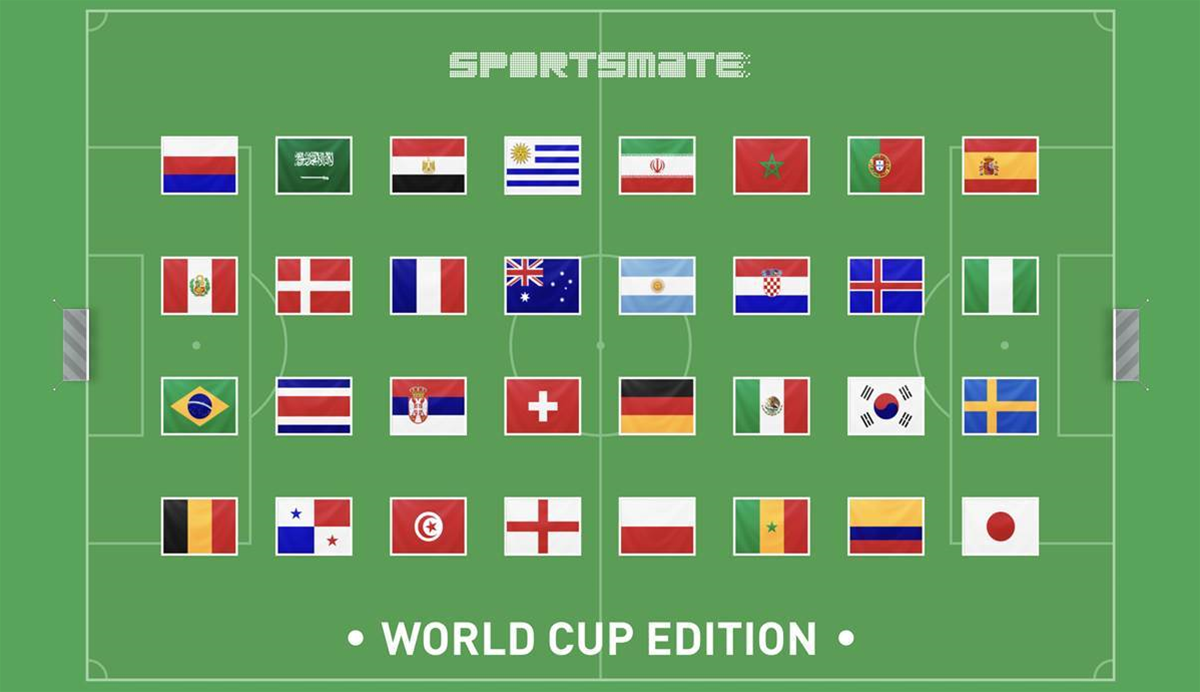 Want to follow the World Cup from every angle? Sportsmate's got an app for that!