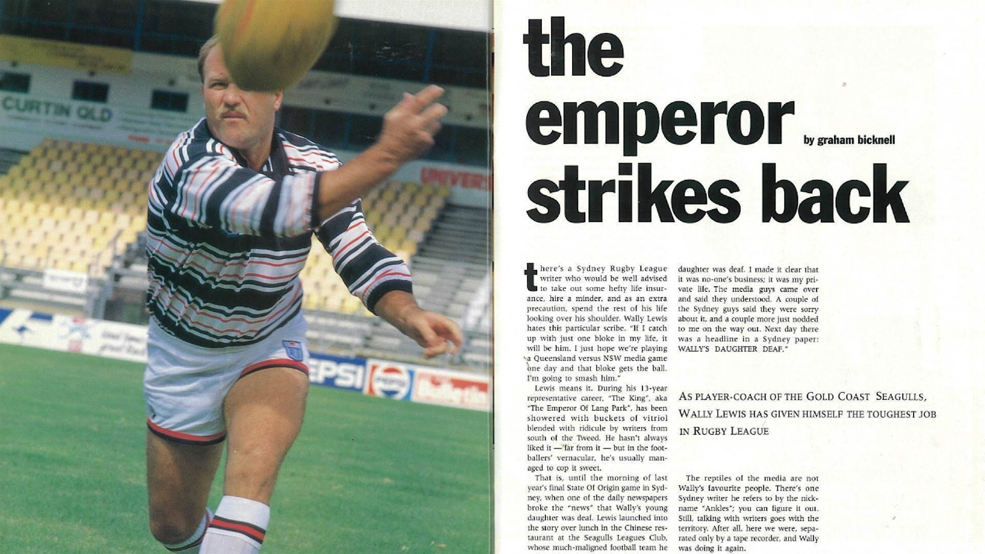 Pressure on Seagulls player-coach Wally Lewis