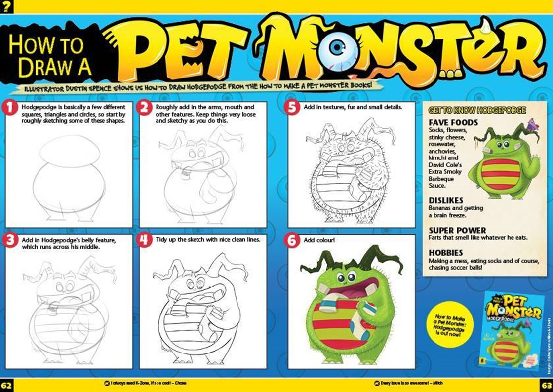 How To Draw A Pet Monster