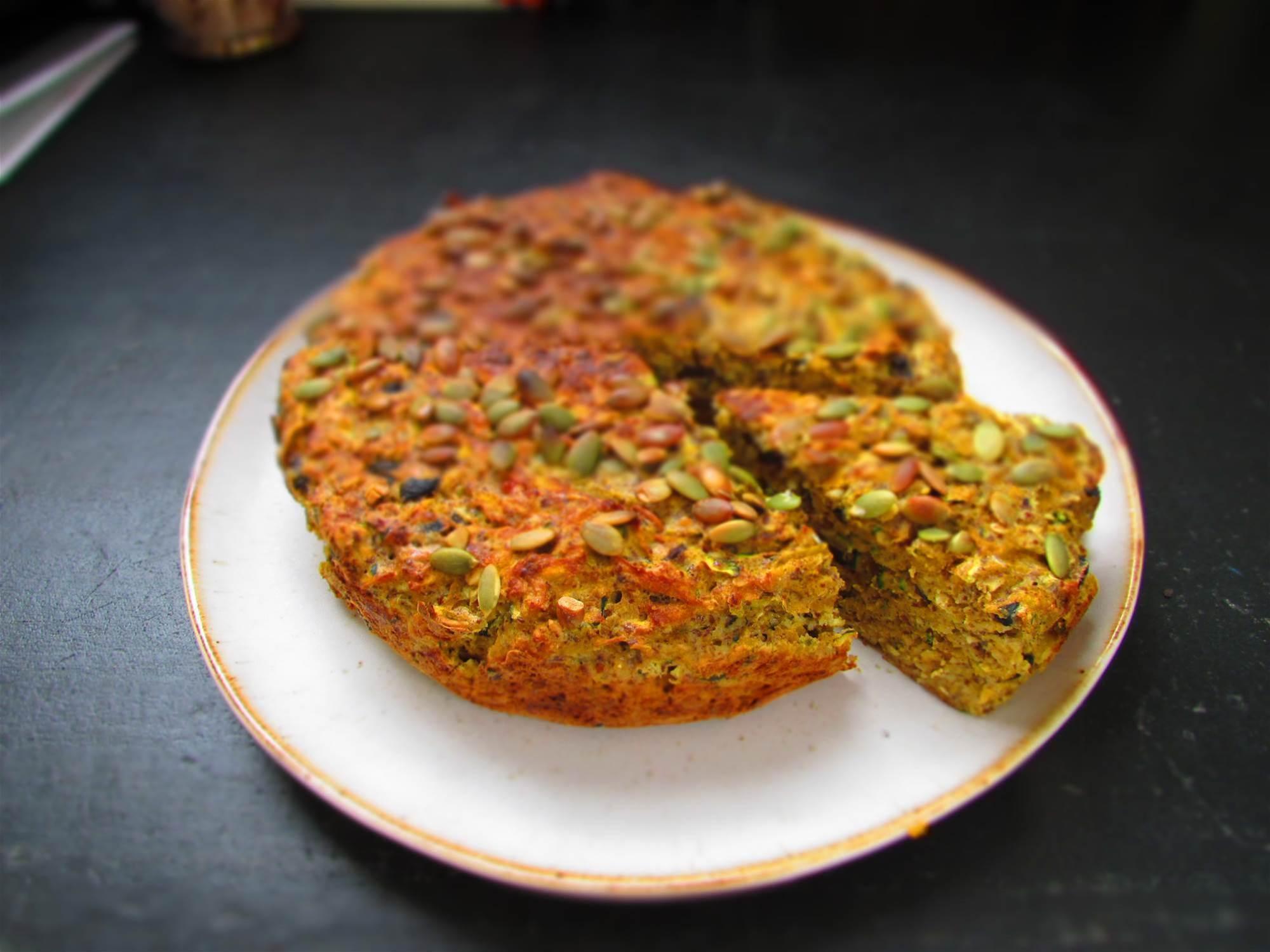 RECIPE: Pumpkin, Zucchini and Olive Cake