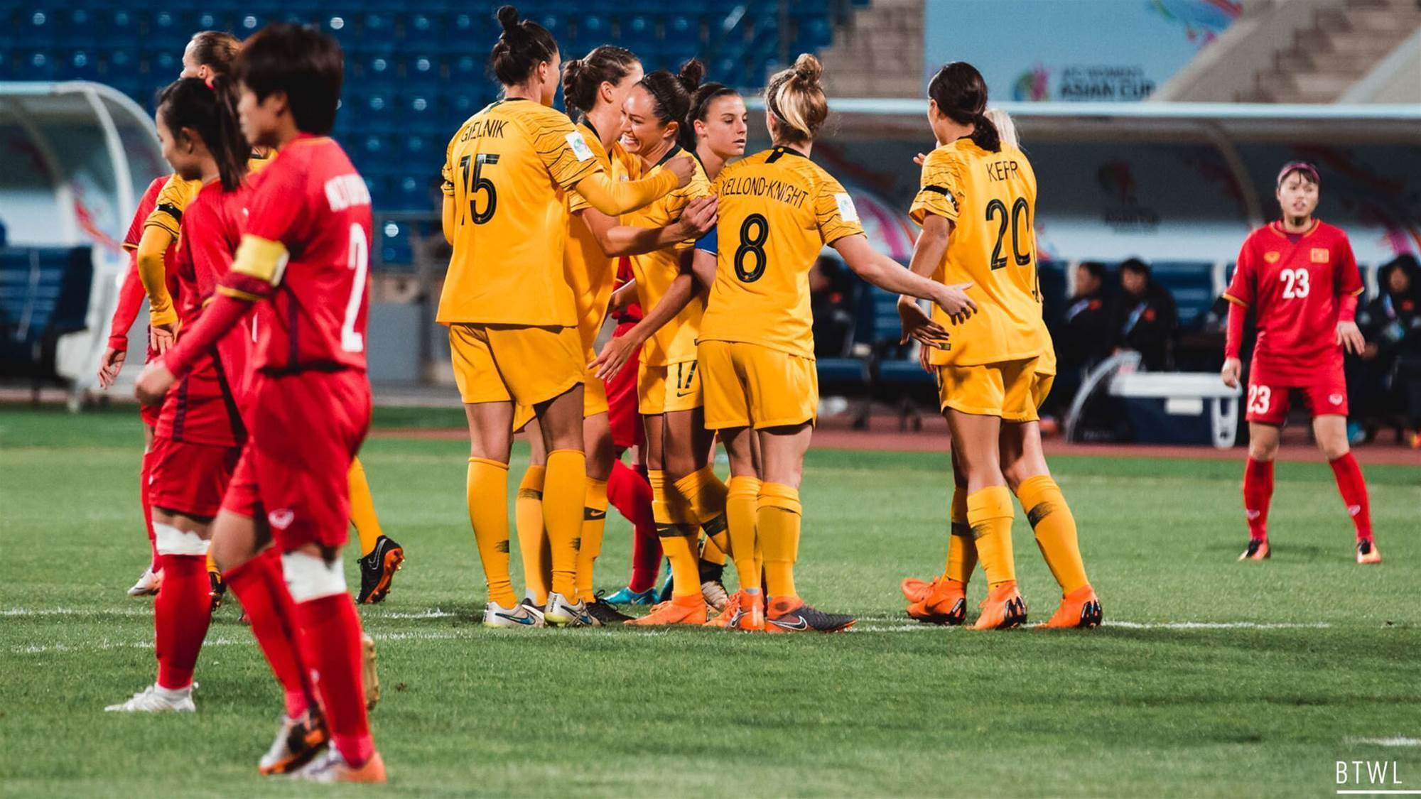 Matildas put eight past Vietnam