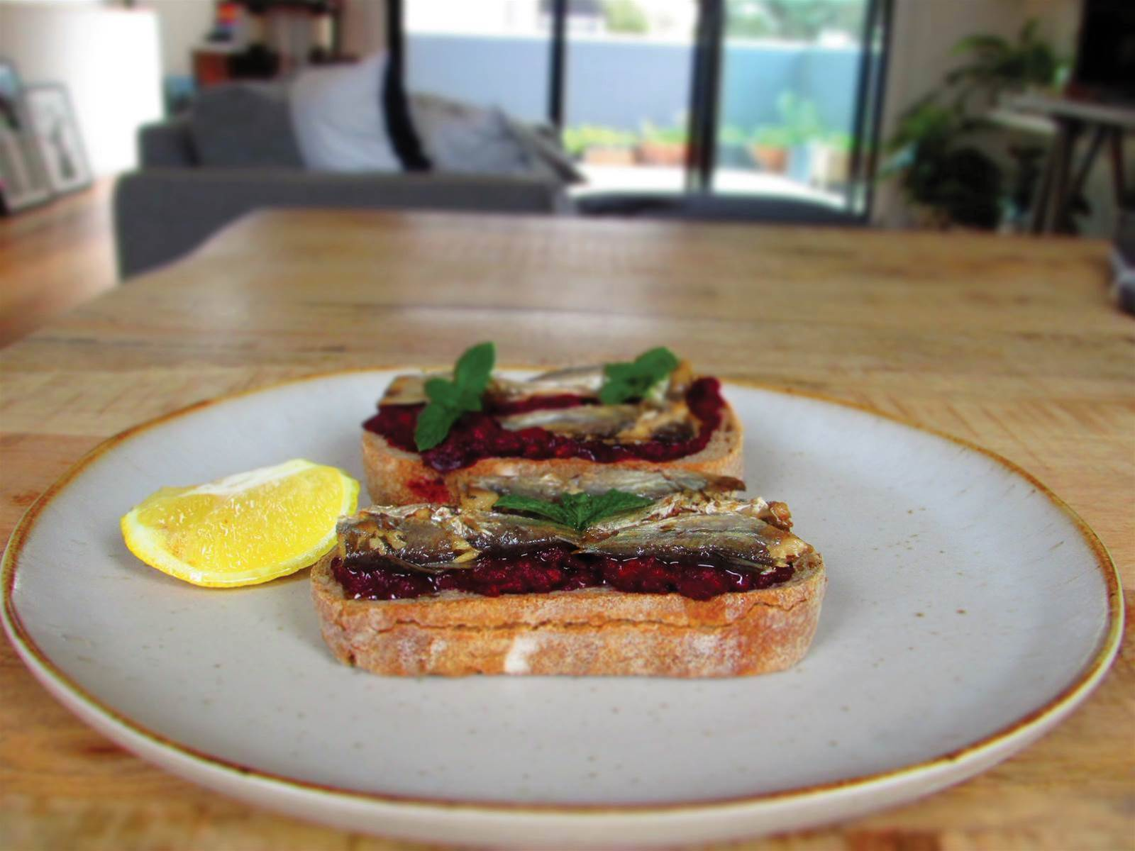 RECIPE: Roasted Beetroot and Sardines on Sourdough