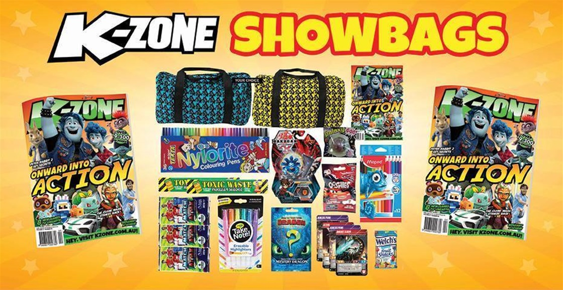 Get K-Zone Showbags Delivered: Toys, Cards, Collectables, Mags and More!
