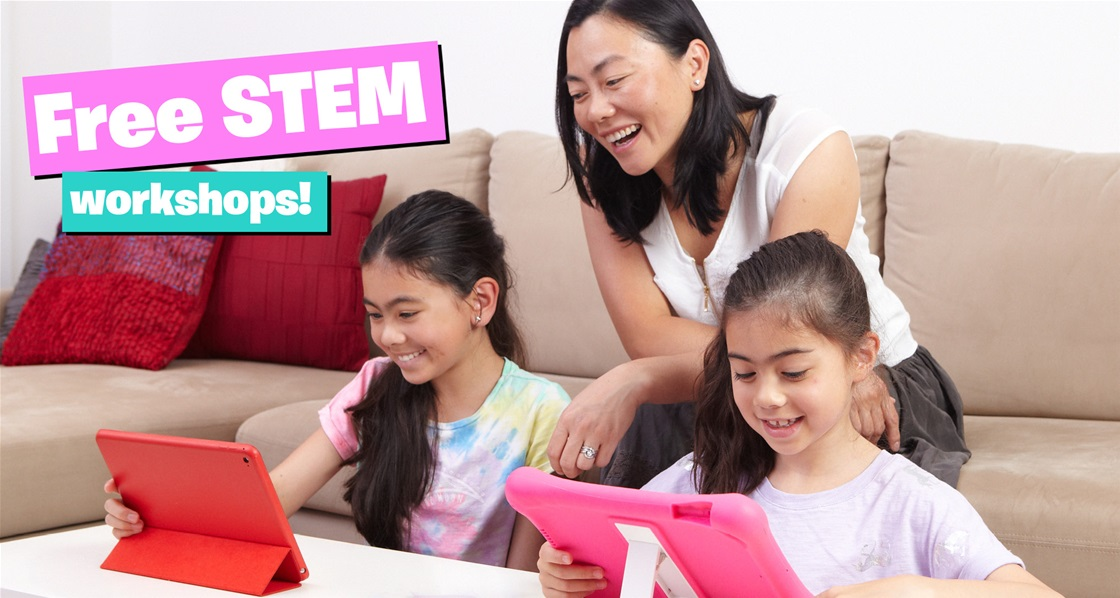 Yay! Learn how to code with FREE STEM workshops