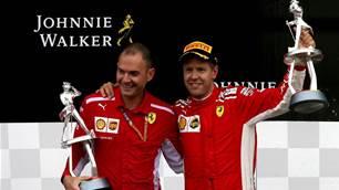 Vettel serene in Spa