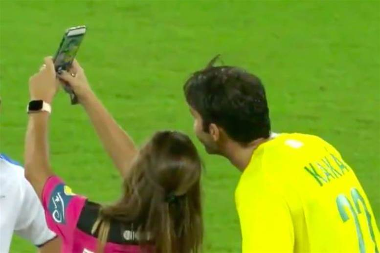 Watch! Ref stops game to book Kaka and grab a selfie