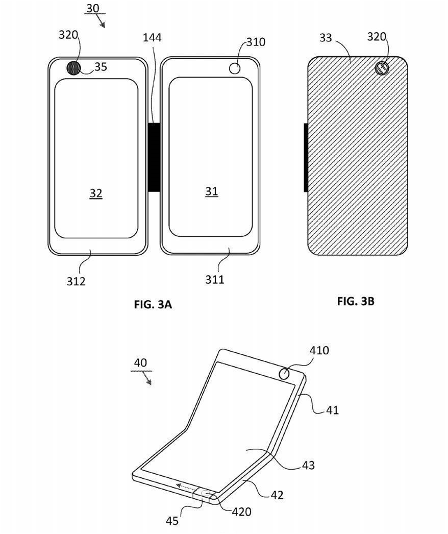 Microsoft patents foldable smartphone designs