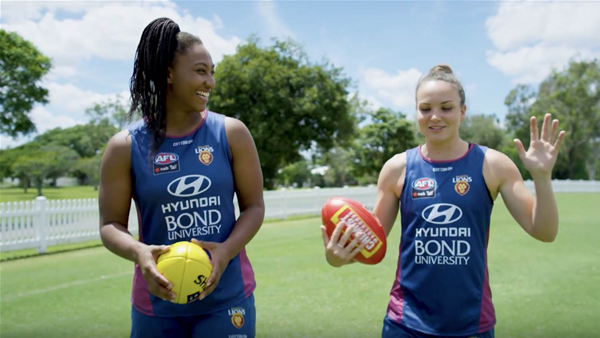 Brisbane Lions duo and their AFLW dream