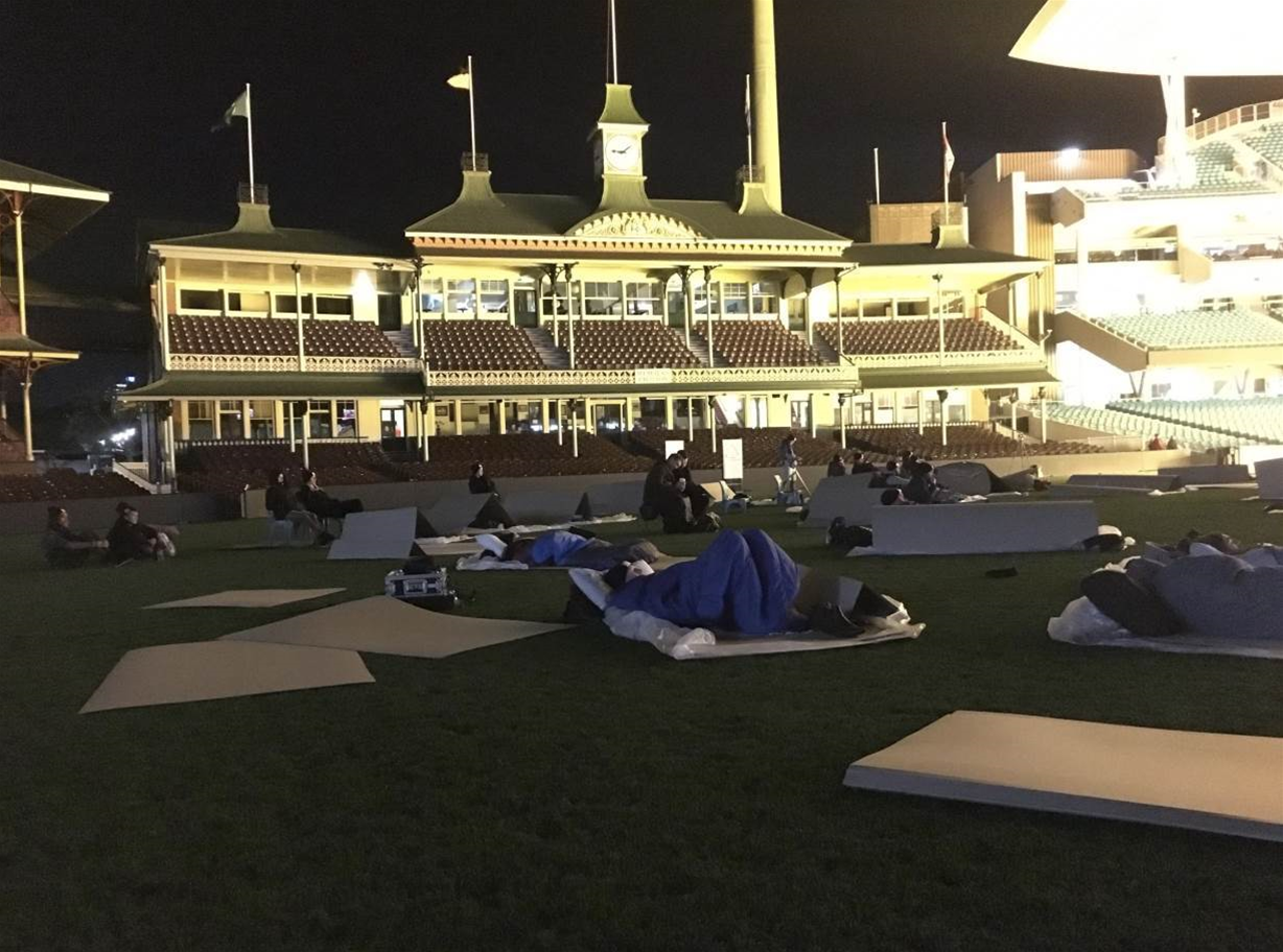 Healy and Heyman sleepout on SCG