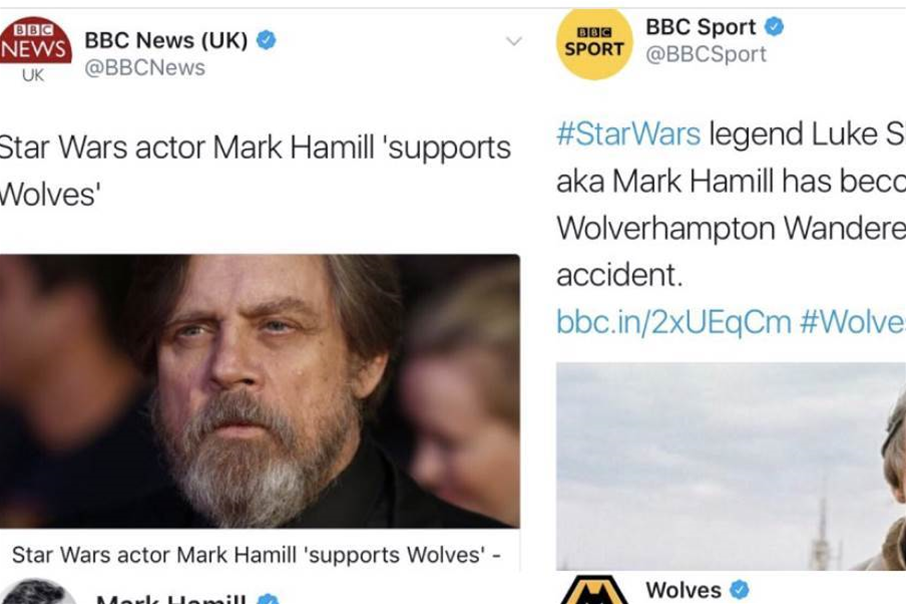 How Star Wars hero became a Wolves fan...