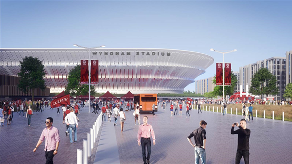 Stadium timeline vow: Three years from greenlight to first game...