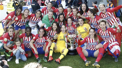 Atletico Madrid lift title in Spain