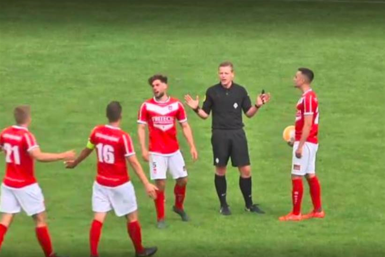 Watch! Referee scores goal in Holland