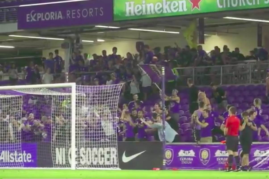 Watch! Orlando City supporters sprint to empty side of stadium for penalties