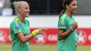 Matildas Abroad: Kerr & Yallop hit the net!