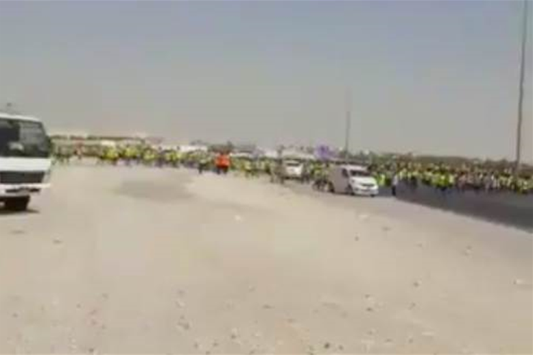 Watch! 2022 World Cup construction workers participate in large protest