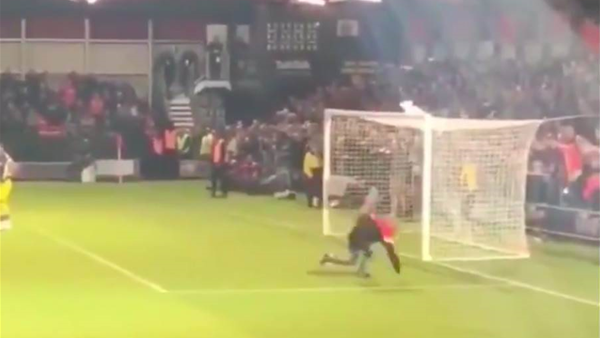 Watch! Pitch invader embarrasses himself during Carabao Cup