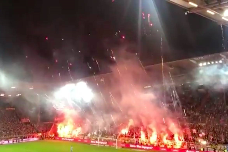 Watch! Insane pyro display in Hamburg derby